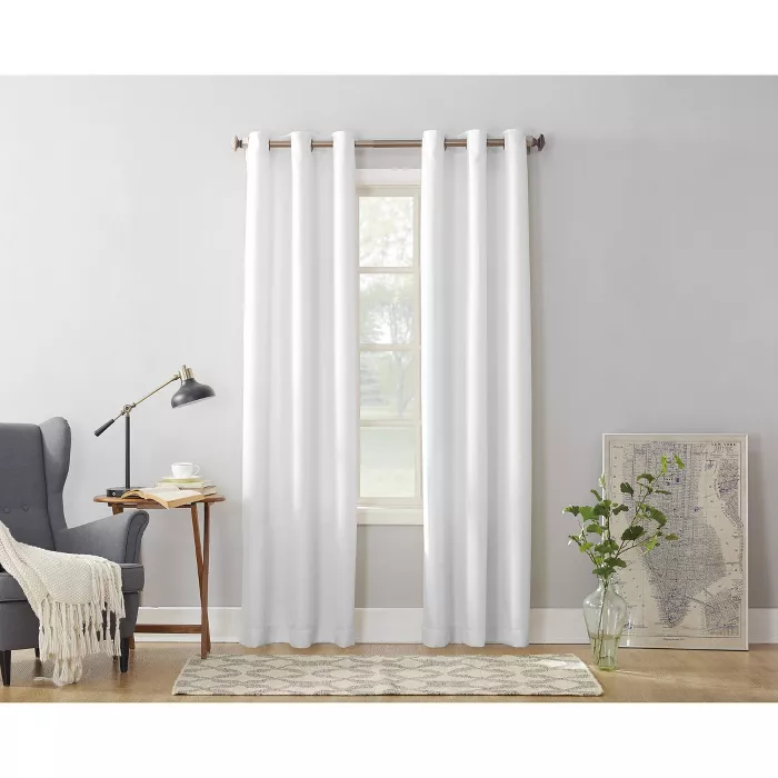 Montego Casual Grommet Top Curtain Panel No 918 In 2020 White