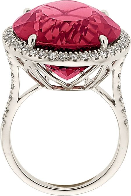 Estate Jewelry:Rings, Rubellite, Diamond, White Gold Ring The ring f... Image #2