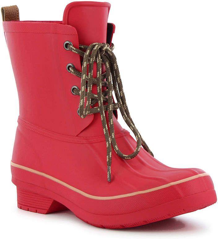 5b46c413746df Western Chief Womens Rain Boots Lace Up Waterproof Flat Heel Pull-on Wide  Width