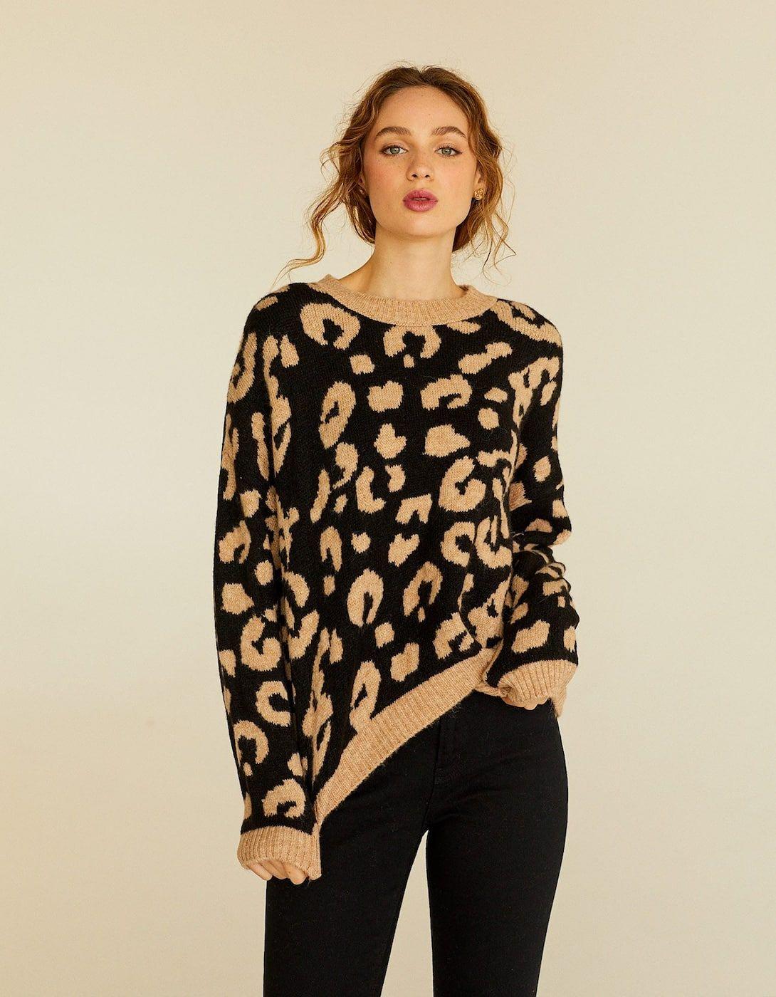 c34c549b3aae Animal print sweater in 2019 | HOL 19 MUDD | Sweaters, Fashion, Knitwear