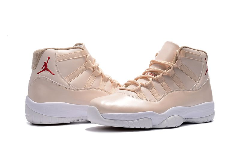 """finest selection 34689 d7b7a New Air Jordan 11 """"Maroon"""" Light Pink White Basketball Shoes"""