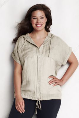 be5a90cbc4d Looks very comfy and casual!! Women's Plus Size Short Sleeve Linen ...