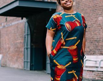 African Print Shift DRESS #africanprintdresses