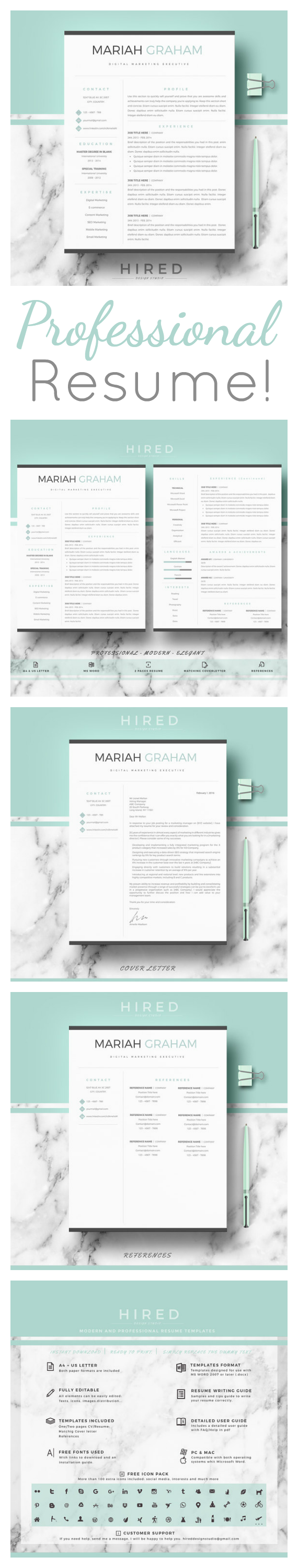 Love How Professional This Resume Template Is Edit It In Word For