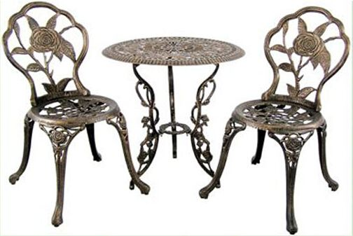 2pc Cast Aluminum Table And Chair For Outdoor Http Www Alibaba Com Product De Patio Furniture Table Aluminum Patio Furniture Metal Patio Furniture