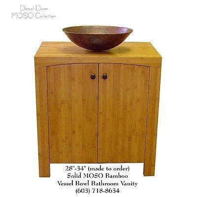 Solid Bamboo Vessel Bowl Bathroom Vanity Boston Ma Ny Nj Ca Tx Pa Alluring Bathroom Vanities Nj Design Inspiration