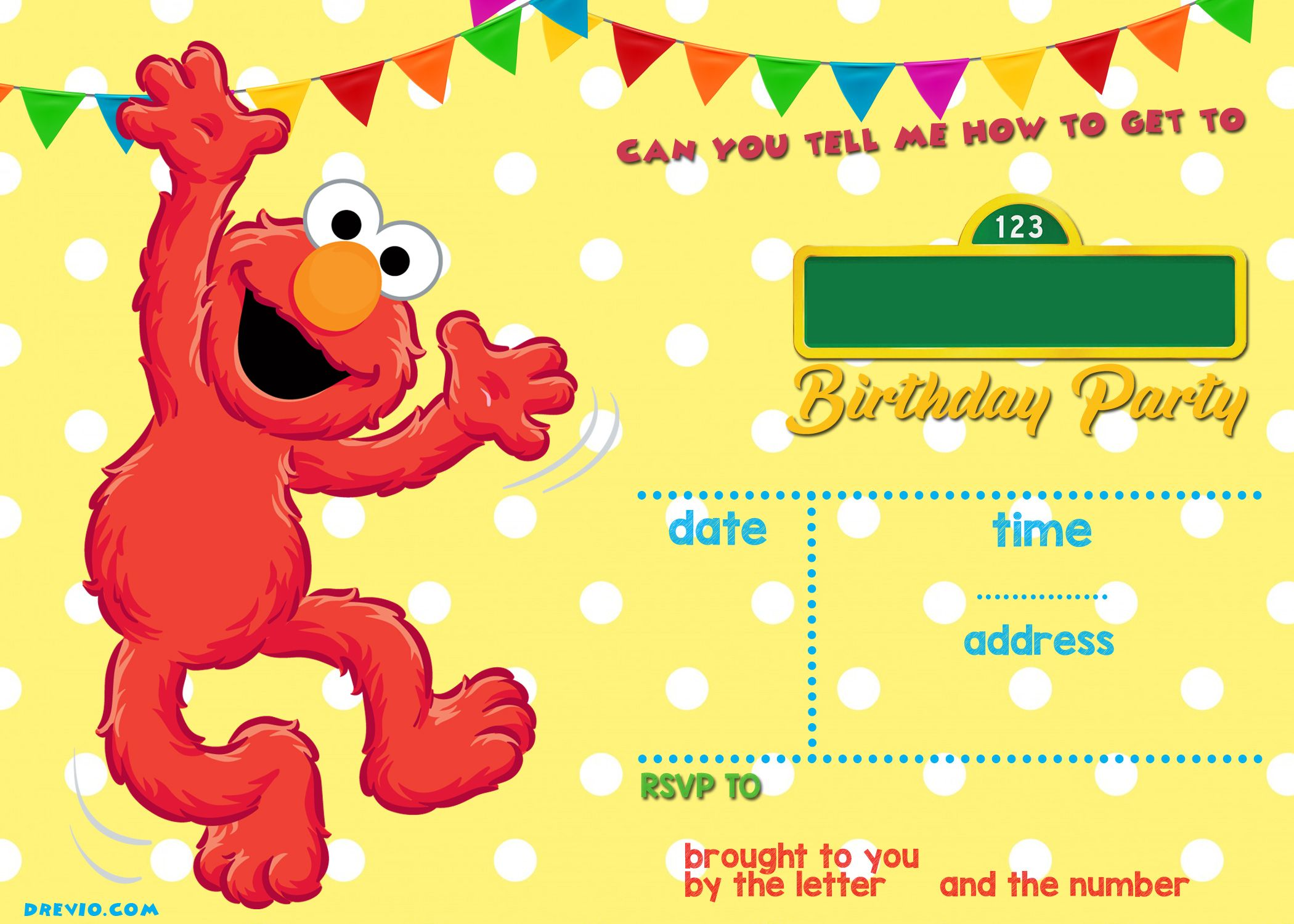 Sesame Street Birthday Invitations Online