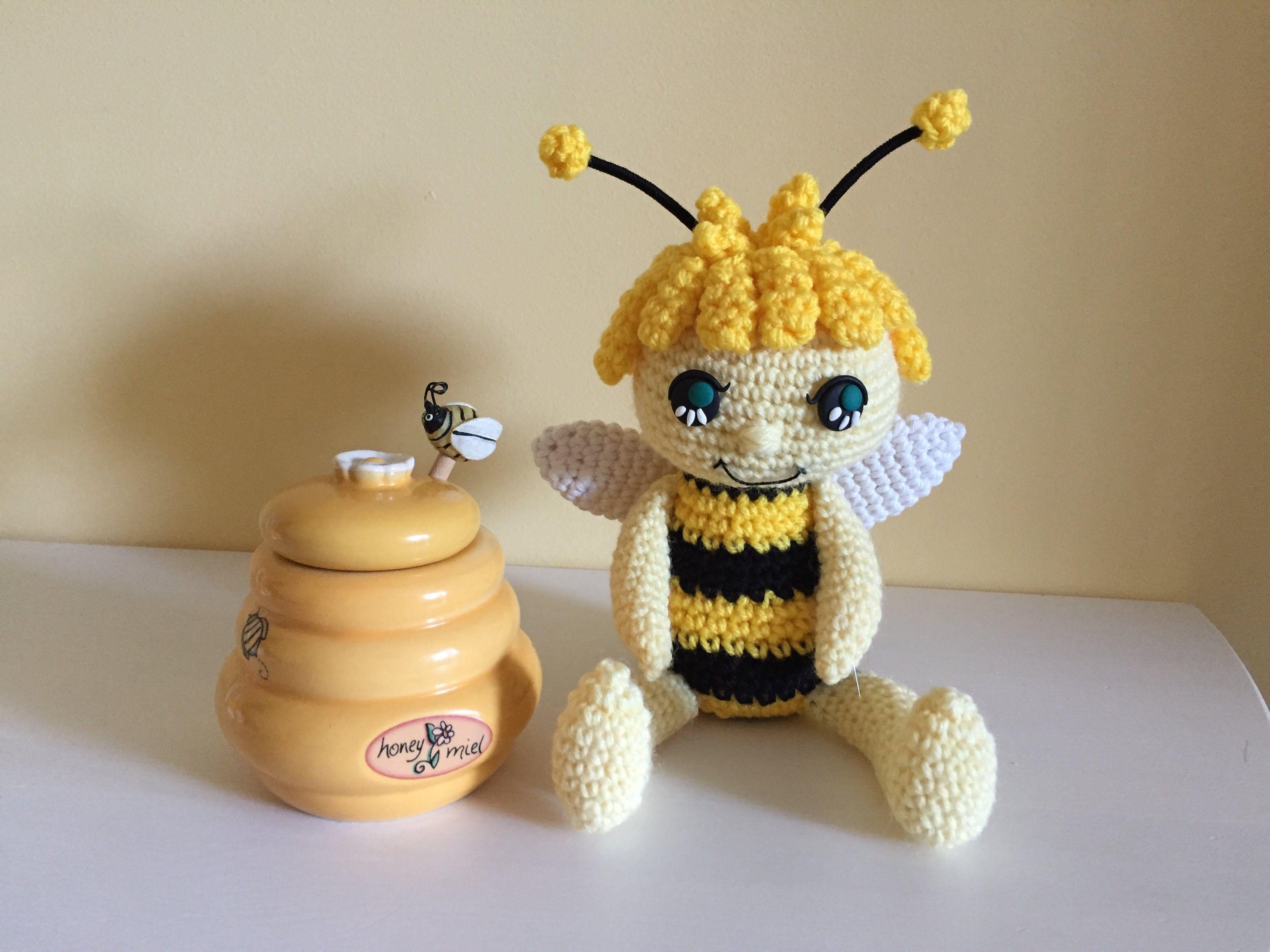 Ape Amigurumi (tutorial)/how to make a bee amigurumi - YouTube ...