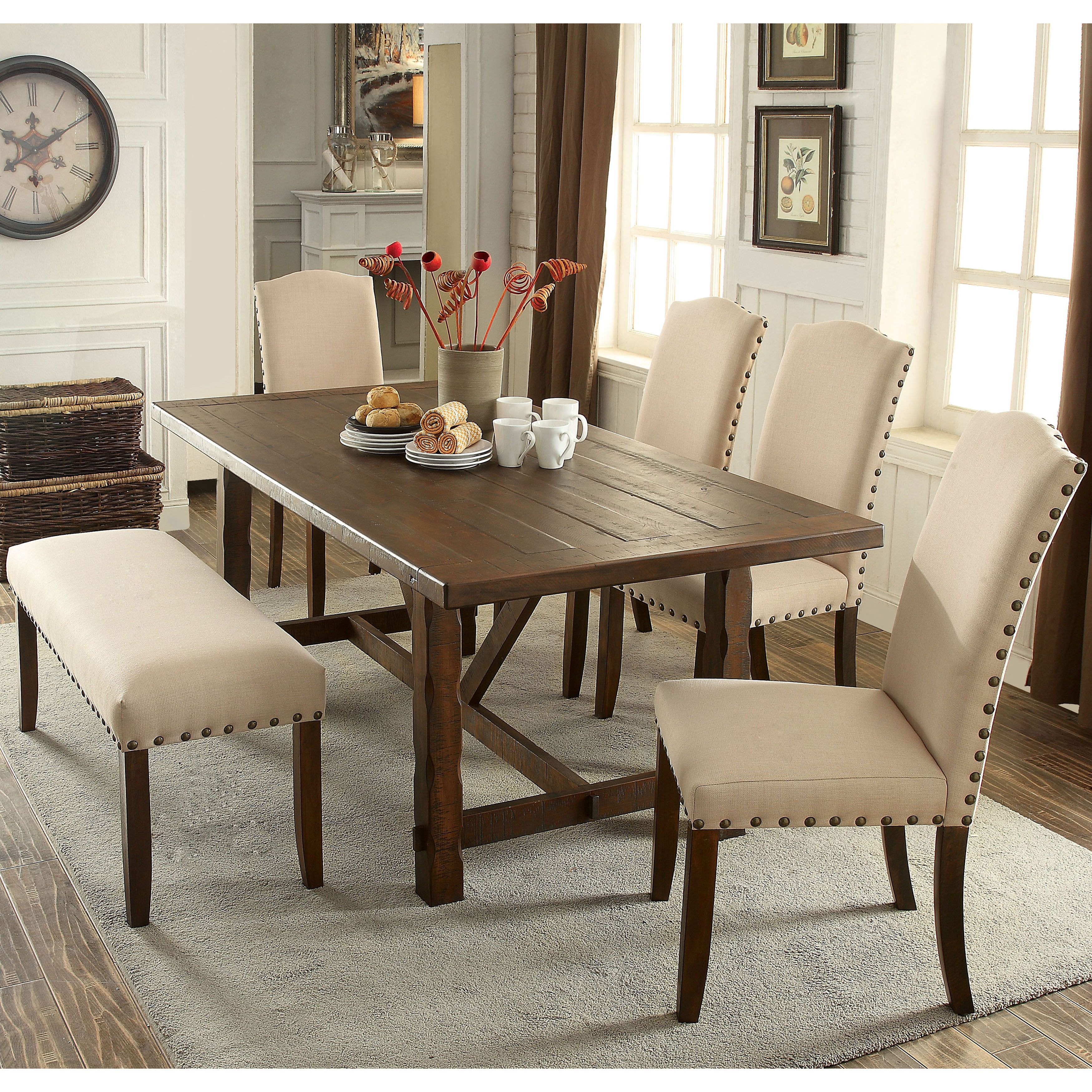 Dining Table Sets Deals: Furniture Of America Felicity 6-piece Rustic Walnut Dining