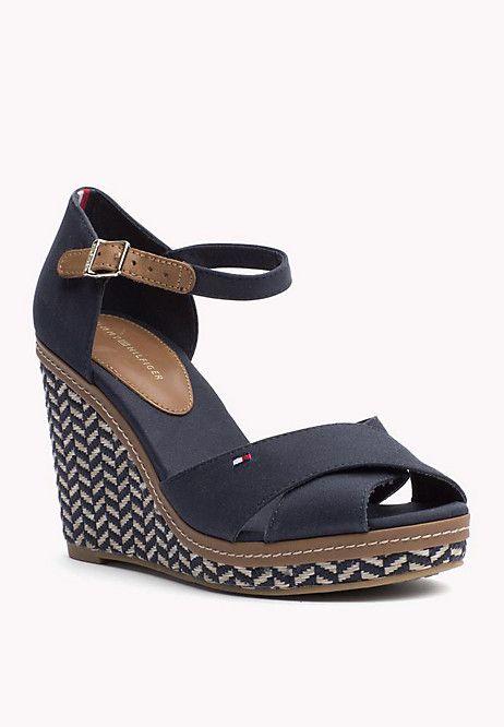 274e82438e5f7 Chaussures Compensées En Textile. Shoes StyleShoes SandalsTommy HilfigerWoman  ...