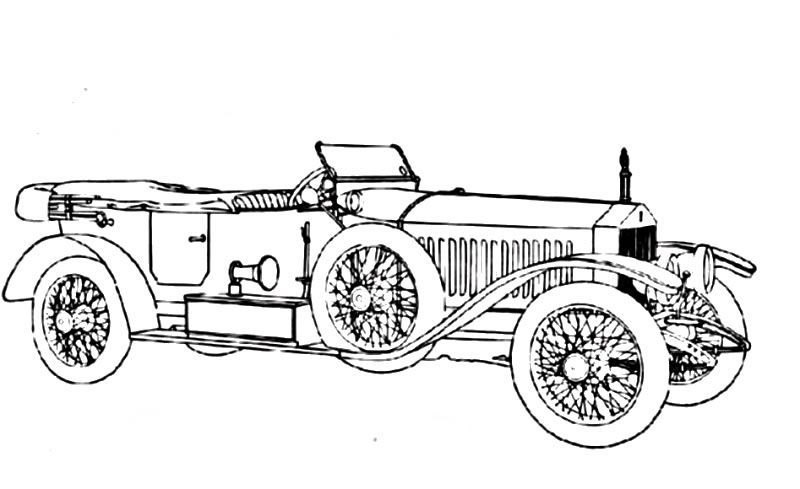 vintage_cars_25 Adult coloring pages