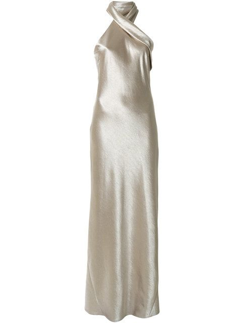 Shoppen Galvan asymmetric halterneck dress ...