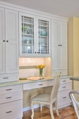 A Built In Desk Hutch Combo Area Photo Musumeci Kitchen Areas