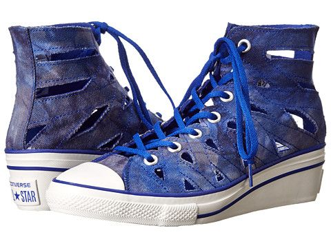 dd351a66f76c Converse Chuck Taylor Hi-Ness Cutout Hi in Blue - love the cutouts for  summer!! I m not really good with heels