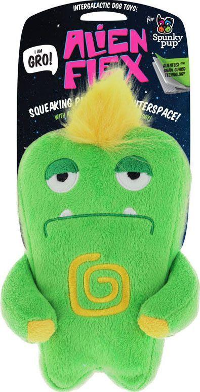 Spunky Pup Alien Flex Gro Plush Dog Toy Products Dog Toys