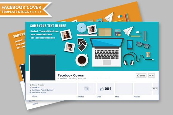 Facebook Cover Design by Infographic on Creative Market
