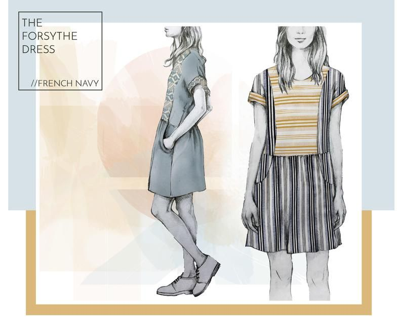 The Forsythe Dress Pdf Pattern Etsy In 2020 Dresses Tea Party Dress Clothes