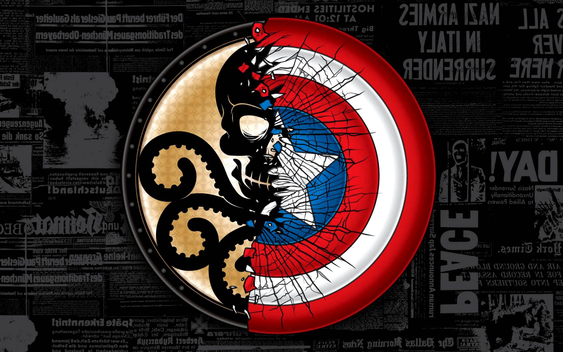 Captain America Vs Hydra Logo HD Wallpaper