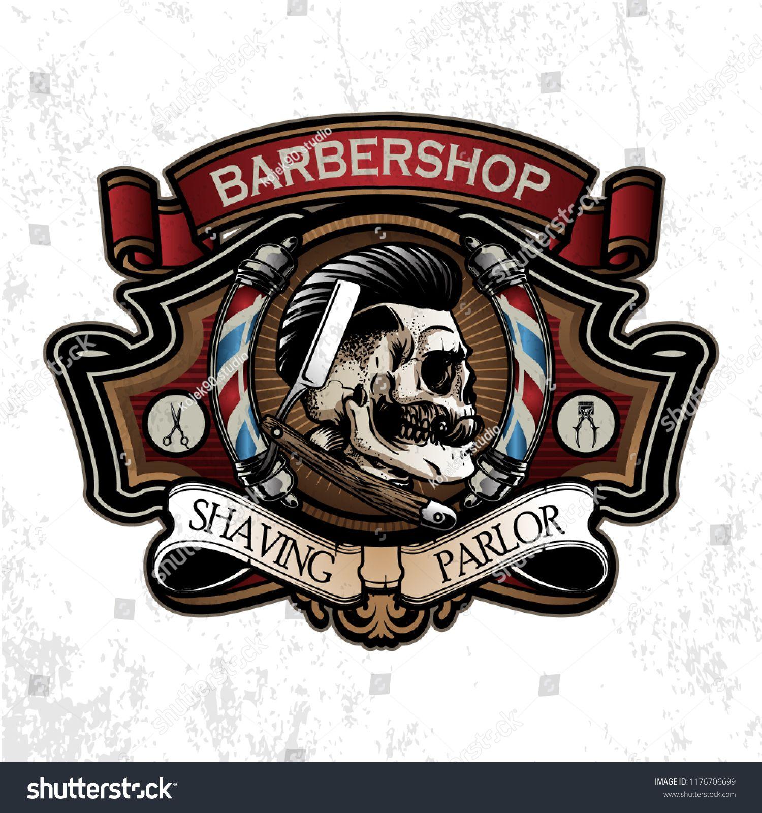 Vintage Barber Shop Logobarber Vintage Logo Shop Vintage