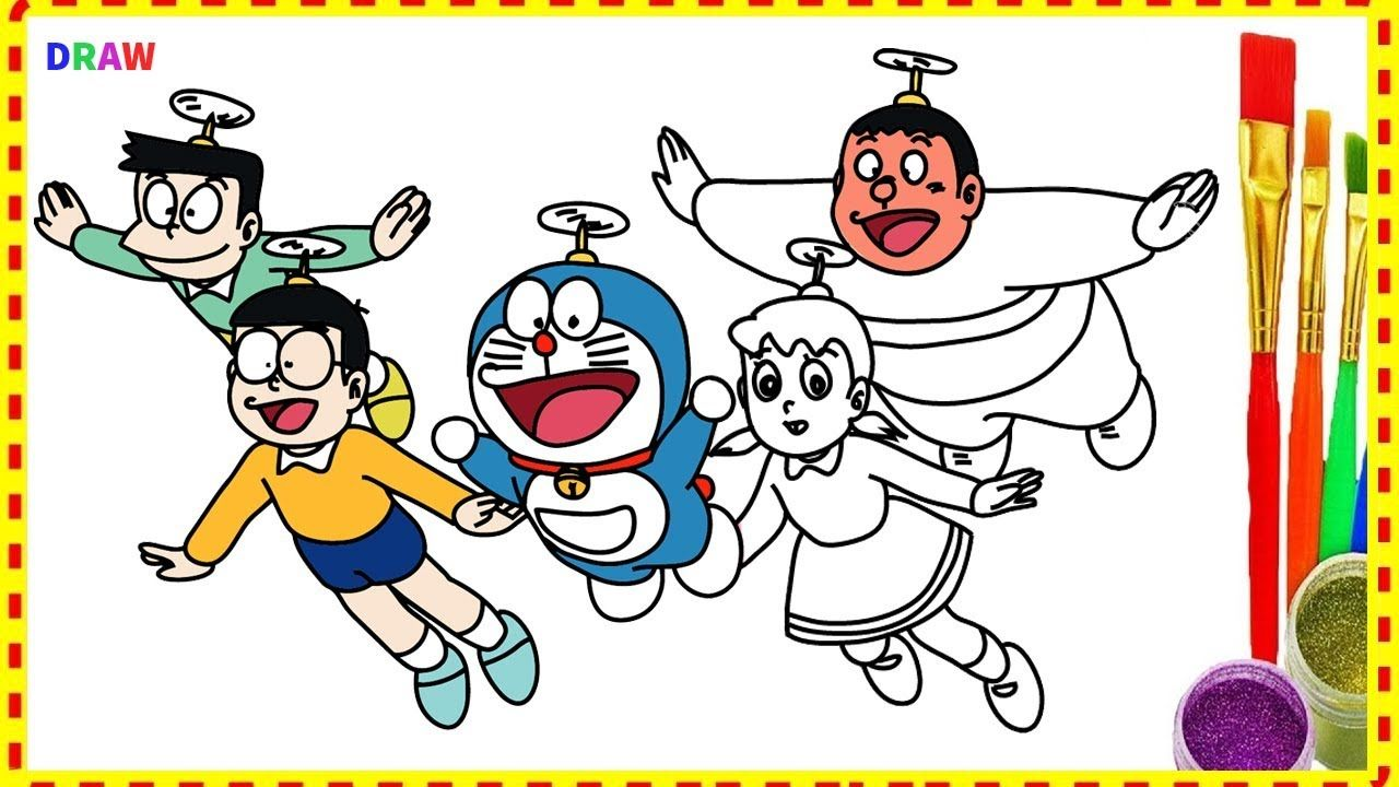 Doraemon and Friends - Drawing and Coloring Doraemon Characters