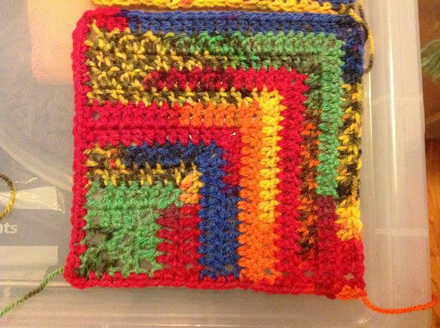 Ravelry: Project Gallery for Double crochet mitred squares pattern ...