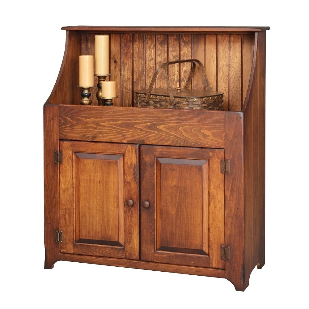 Amish Primitive Dry Sink Storage Cabinet Cupboard Antique Look