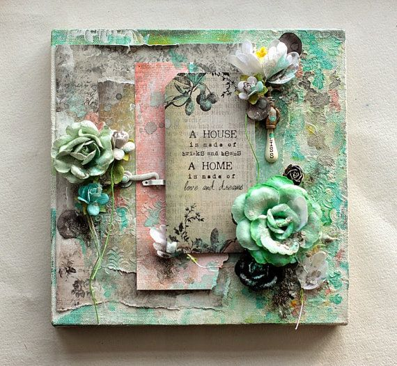 Mixed Media Canvas A House Is Home Decor On Sale Projects