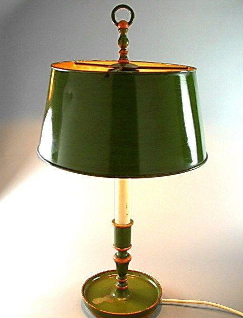 FRANZSISCHE BOUILLOTTE TISCHLAMPE TISCHLEUCHTE MESSING LAMPE VINTAGE DESK LAMP