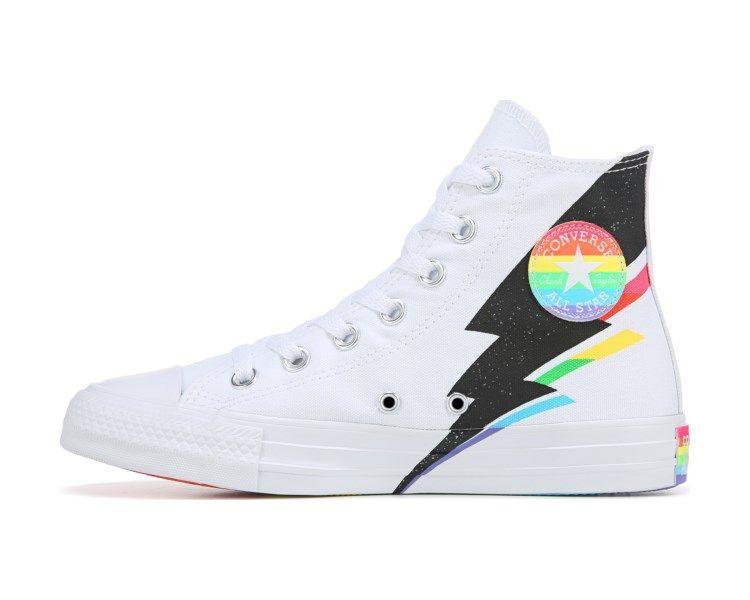 Top Pride Sneaker White Multi Rainbow