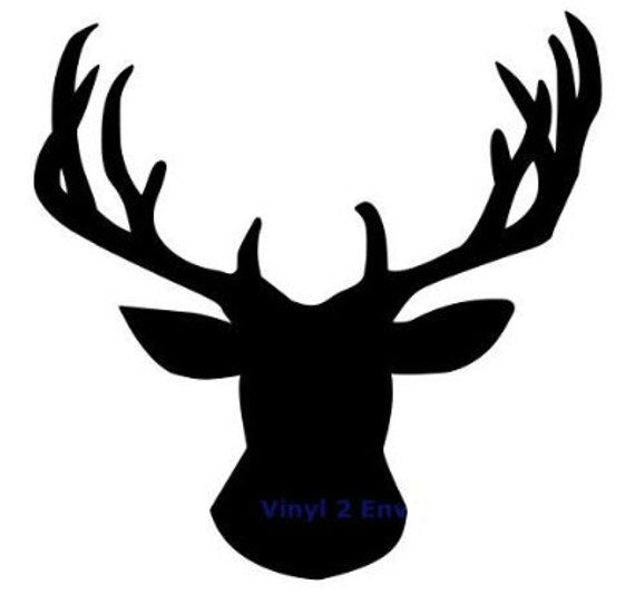 Deer Head Silhouette Svg File Products Deer Head