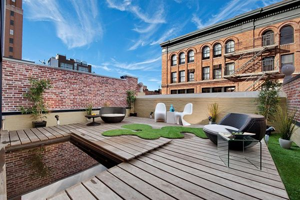 Ny City Terrace Stylish Two Bedroom Duplex Spreading On Two Levels Freshome Rooftop Terrace Design Terrace Design New York Condos Stylish two bedroom duplex spreading