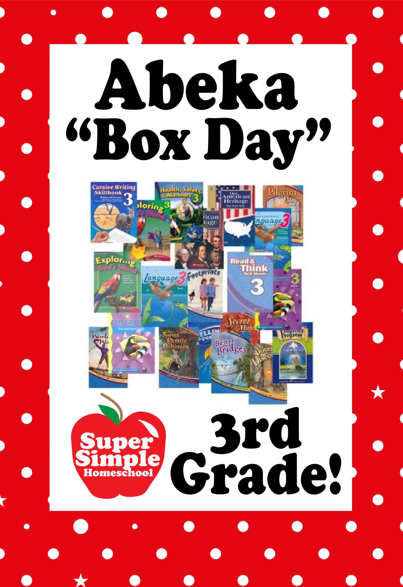 In This Video We Are Unboxing Our Abeka 3rd Grade Christian Curriculum Box Day Is So Exciting This Is What We Recieved In Abeka Abeka Curriculum Homeschool [ 2315 x 1590 Pixel ]