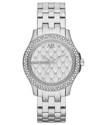 A X Armani Exchange Watch, Women's Stainless Steel Bracelet 36mm AX5215