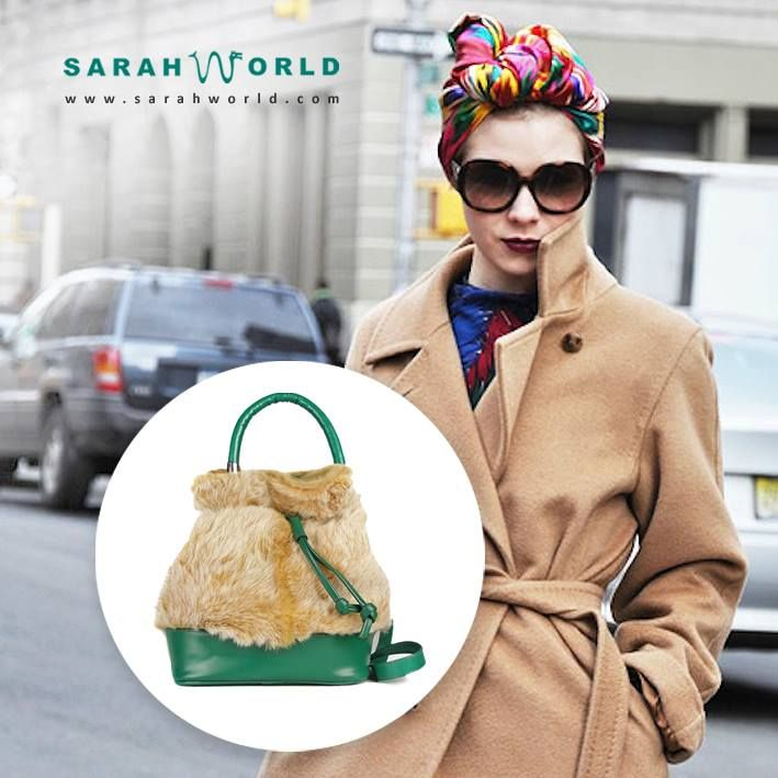 Bolso bandolera Sarahworld by Sara Navarro de pelo conejo detalles caribe Tom http://www.sarahworld.com #sarahworld #bolsotom #trend #bolsopelo #streetstyle #ecocool #ecochic #ecofashion #madeinspain