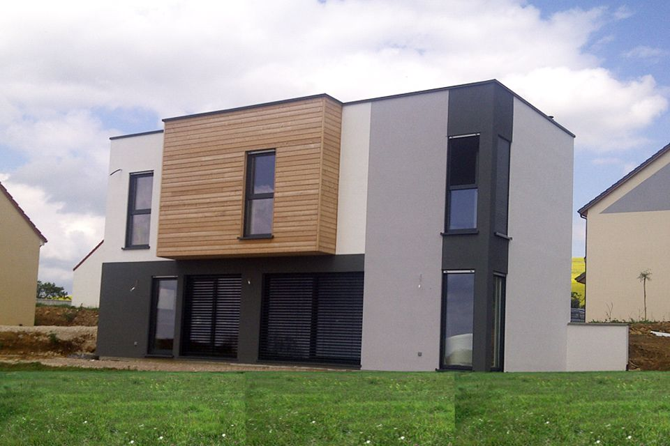 maison ossature bois nord confort chalet fausses id es enduit enduit pinterest maison. Black Bedroom Furniture Sets. Home Design Ideas