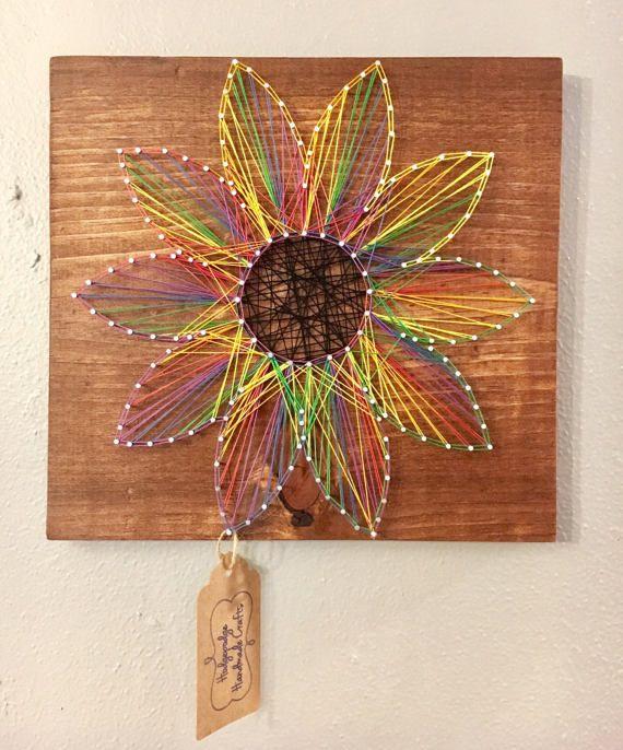 Nail And String Art: String Art / Nail And String Art / Flower / By