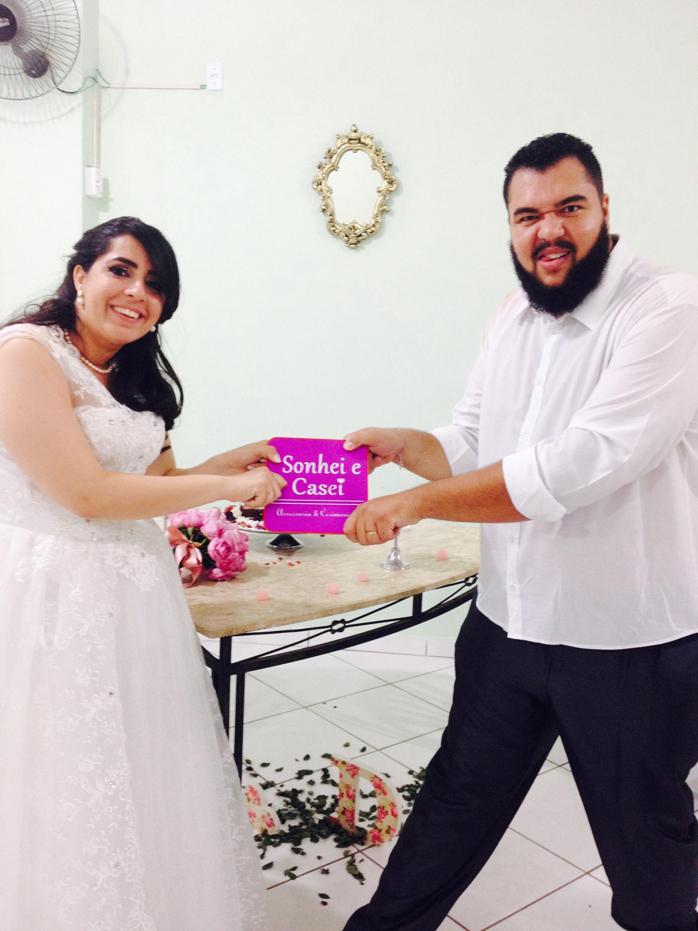 Casamento Jéssica & Douglas. Momento descontraído com os noivos. #SonheieCasei