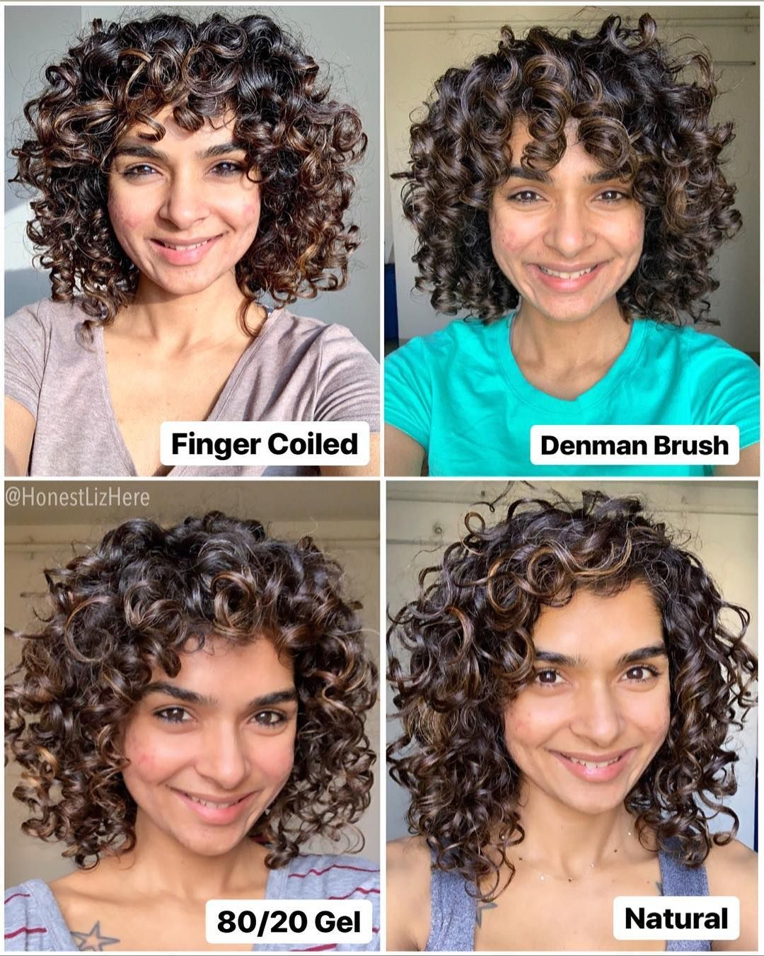When I Was Looking For Something To Help Form Curl Clumps There It Was Learn How Denman Brush H Curly Hair Tips Curly Hair Styles Naturally Curly Hair Styles