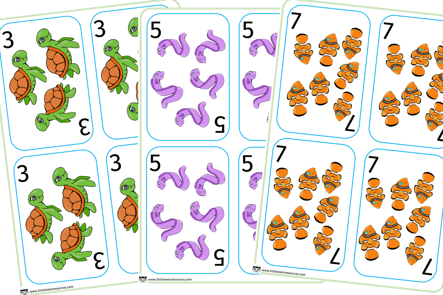Free Sea Animal Snap Early Years Eyfs Printable Resource