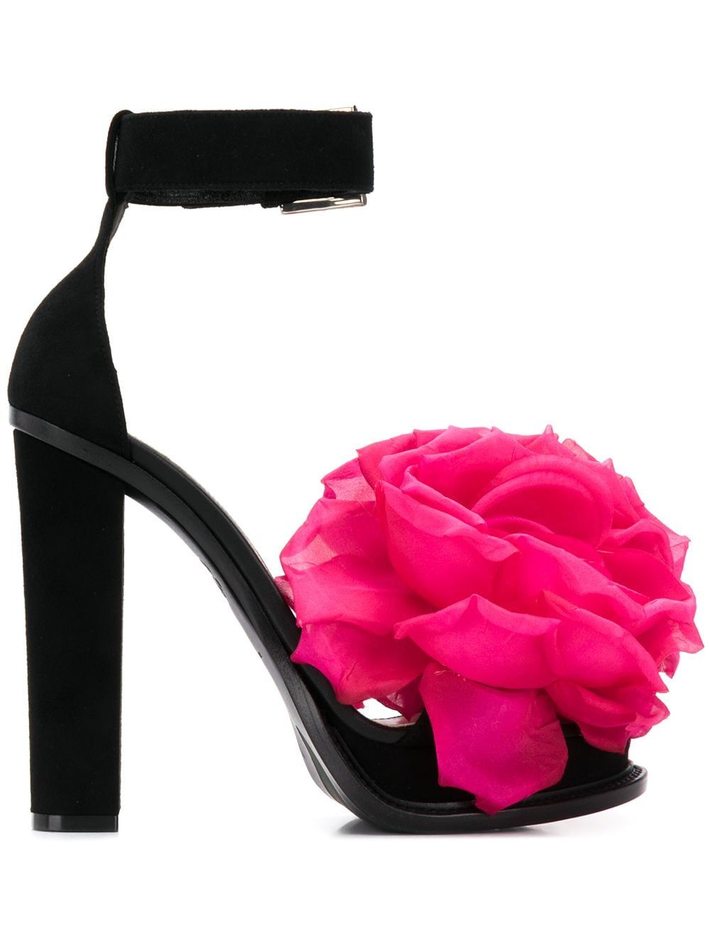 Alexander McQueen Flower Appliqué Sandals - Farfetch