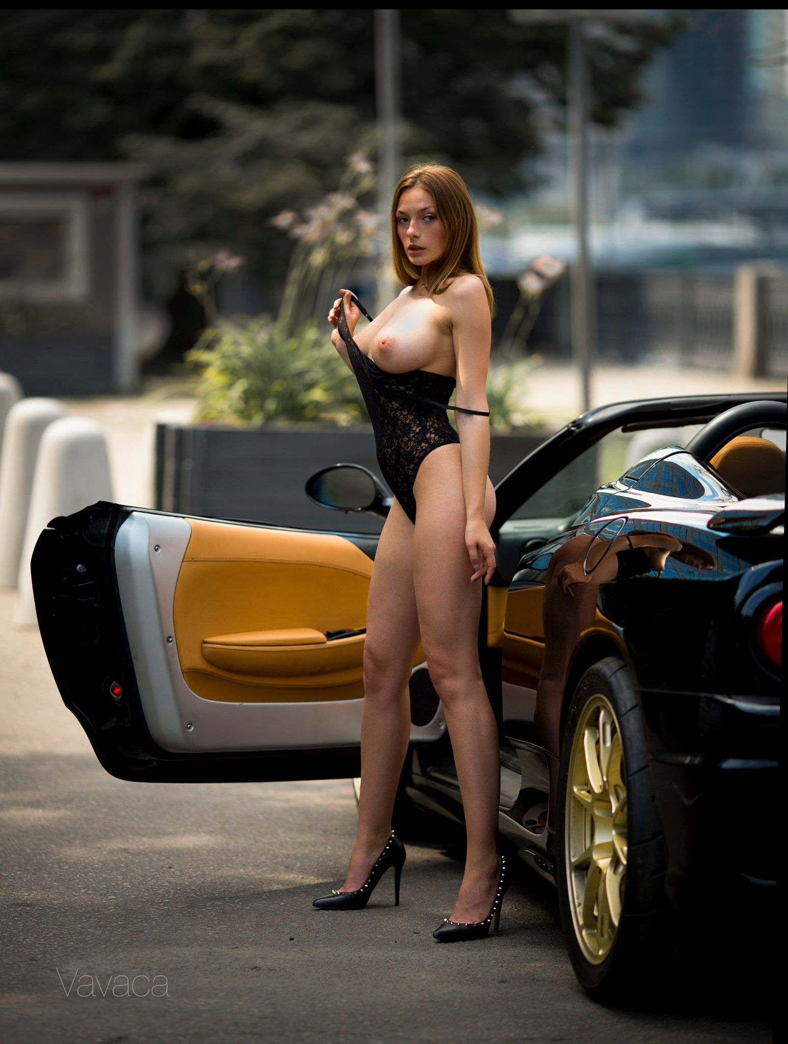 exotic cars and nude models