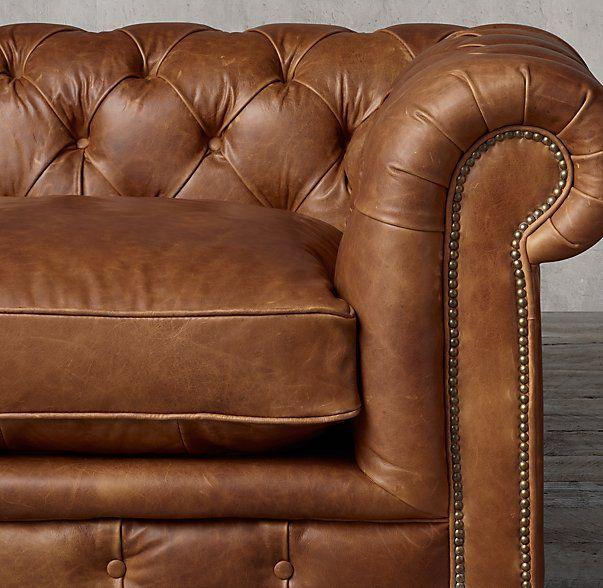 Kensington Leather U Chaise Sectional