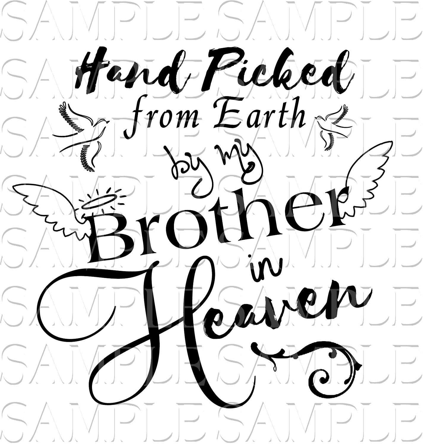 In loving memory brother sister angel loss svg sticker decal car decal wings infant loss keepsake motorcycle truck car by pickleddesigns on etsy