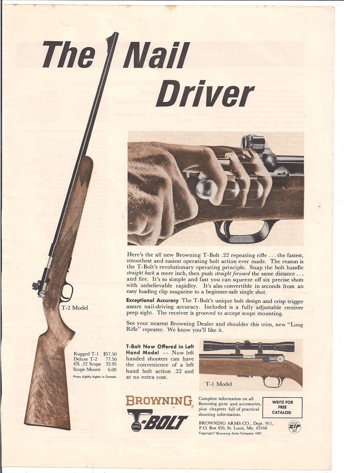 "Browning Firearms Automatic Shotgun Vintage Ad 10/"" x 7/"" Reproduction Metal Sign"