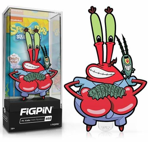 SpongeBob SquarePants Mr. Krabs with Plankton FiGPiN Classic Enamel Pin