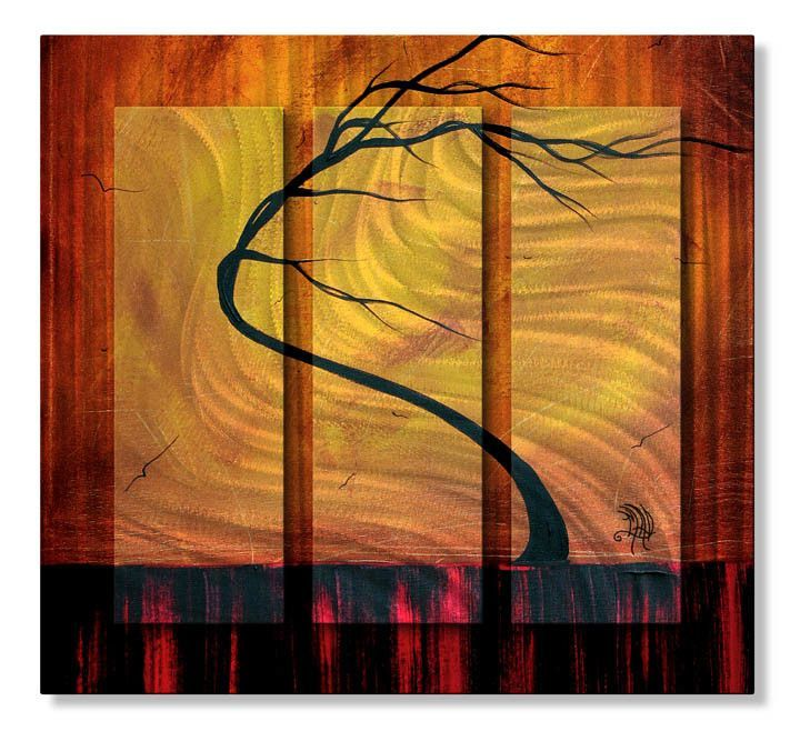 'Forgotten Bliss' by Megan Duncanson Original Painting on Metal Plaque