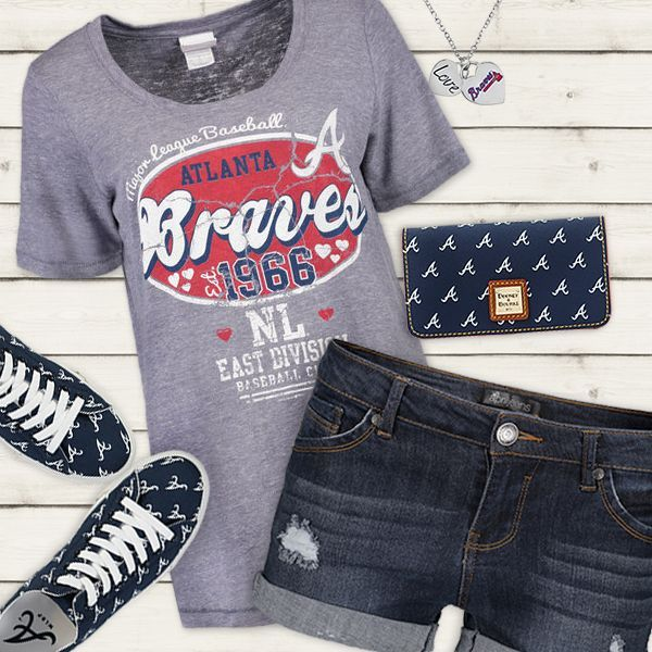 Cute Atlanta Braves Fan Outfit Atlanta Braves Fashion Fan Fashion Football Mom Outfit