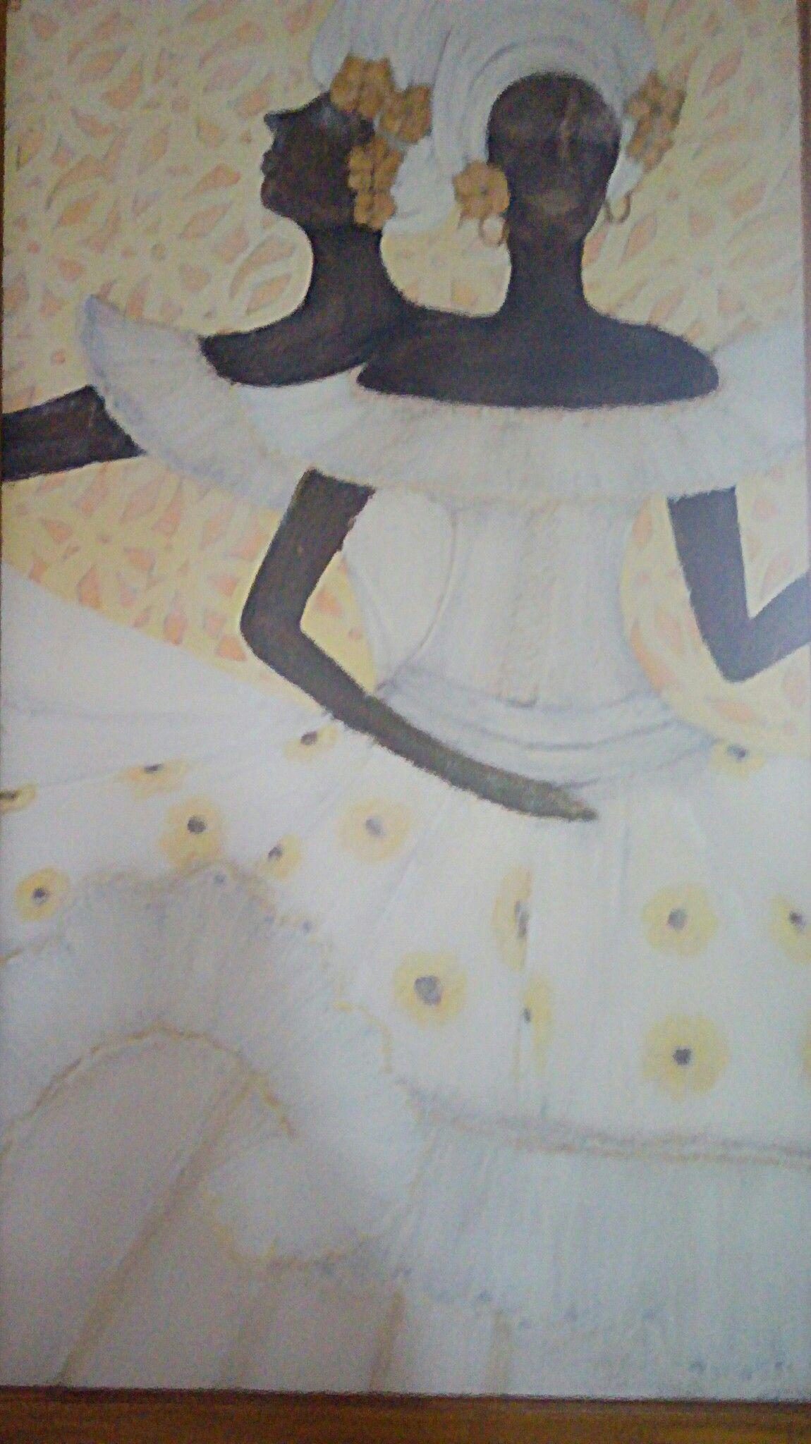 Óleo sobre tela num delicado  bailado de baianas 1,5x0.90 R$ 3.000,00 Tel: 61 995551996 Brasília/ Brasil
