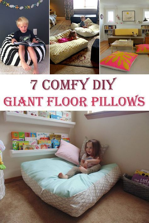 7 Comfy DIY Giant Floor Pillows | Floor pillows, Kids s and Giant ...