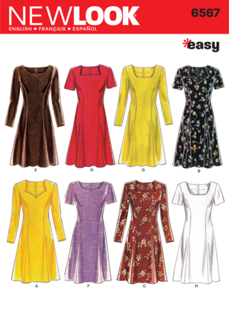 New Look Pattern: NL6567 Misses Dress | Easy — jaycotts.co.uk ...
